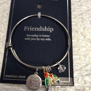 Belk Silverworks stainless friendship bracelet NWT